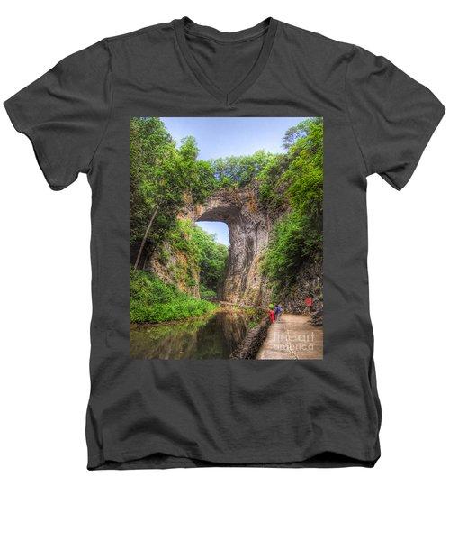Natural Bridge - Virginia Landmark Men's V-Neck T-Shirt