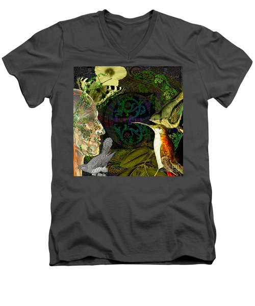 Natural Man Men's V-Neck T-Shirt by Joseph Mosley