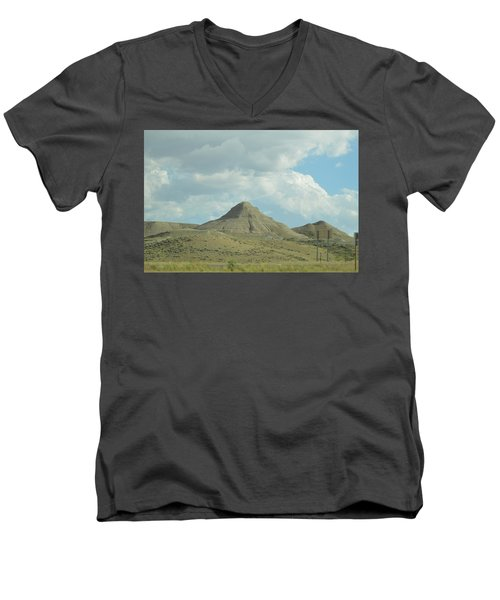 Natural Pyramid Men's V-Neck T-Shirt