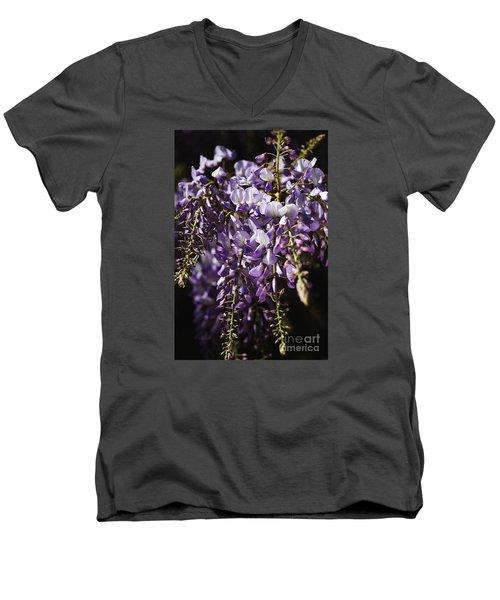 Natural Wisteria Bouquet Men's V-Neck T-Shirt
