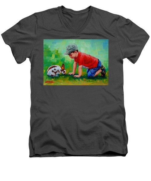 Natural Wonder Men's V-Neck T-Shirt by Margaret Stockdale