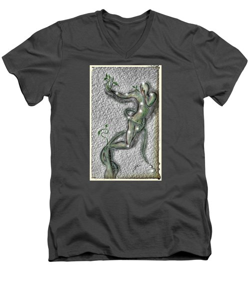 Nature And Man Men's V-Neck T-Shirt by Darren Cannell