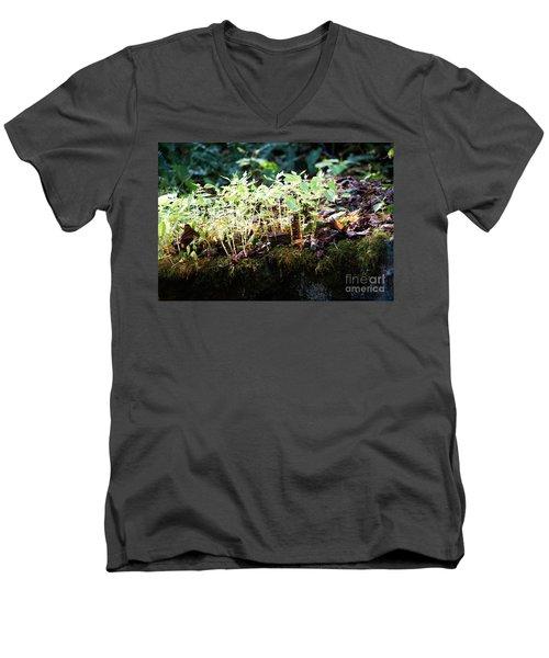 Nature Finds A Way Men's V-Neck T-Shirt by Rebecca Davis