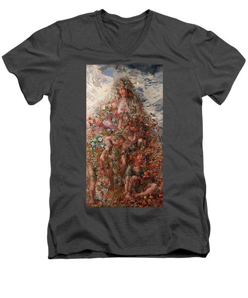 Nature Or Abundance Men's V-Neck T-Shirt