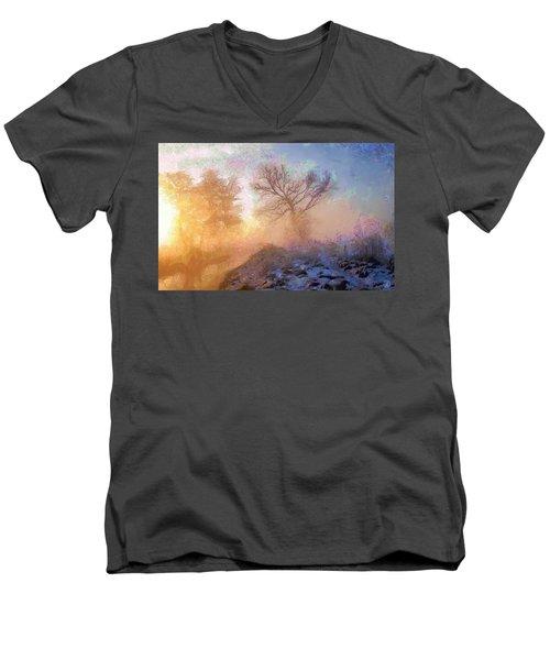 Nature Poetry Men's V-Neck T-Shirt by Gun Legler