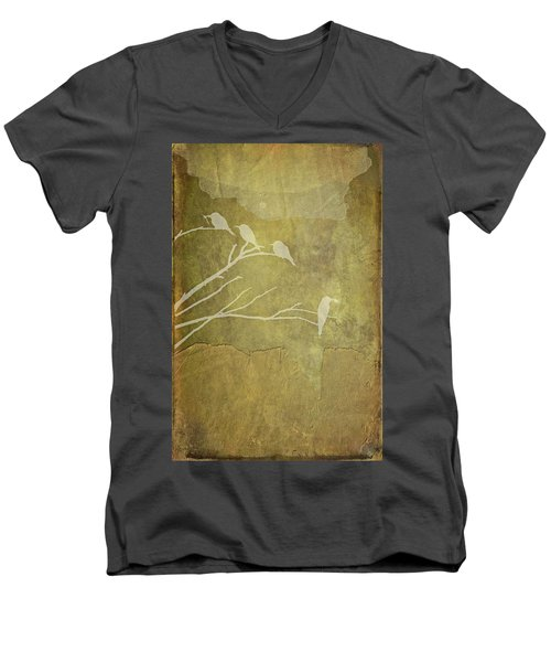 Nature Study In Gold  Men's V-Neck T-Shirt