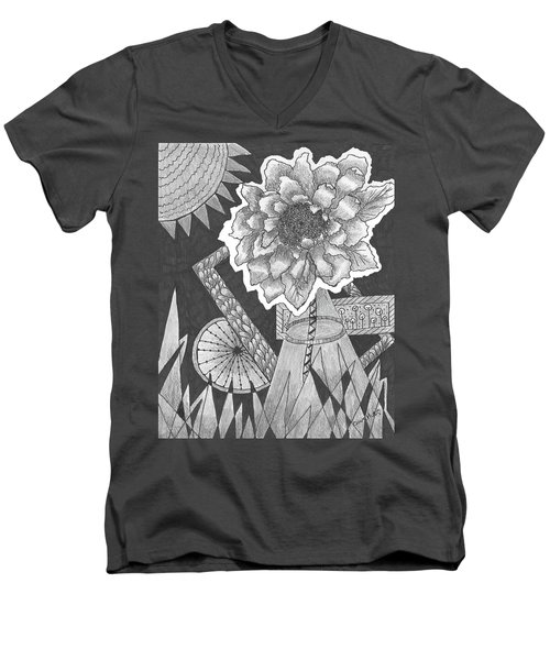 Naturemade And Manmade Shapes Men's V-Neck T-Shirt