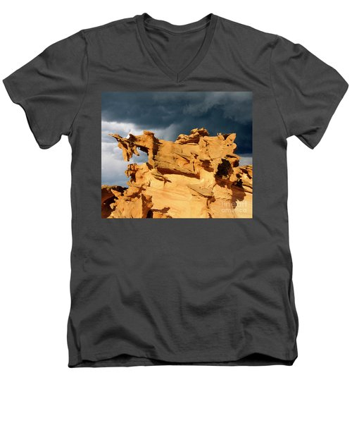 Men's V-Neck T-Shirt featuring the photograph Nature's Artistry Nevada 3 by Bob Christopher