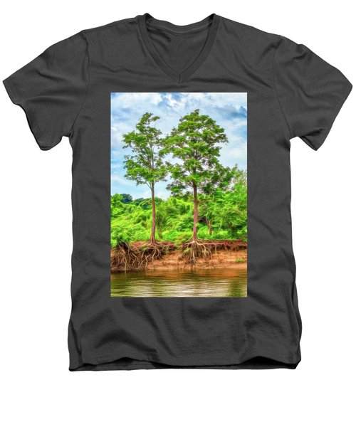 Nature's Electricity Men's V-Neck T-Shirt