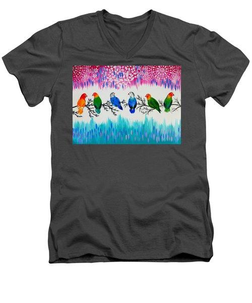 Nature's Jewels Men's V-Neck T-Shirt