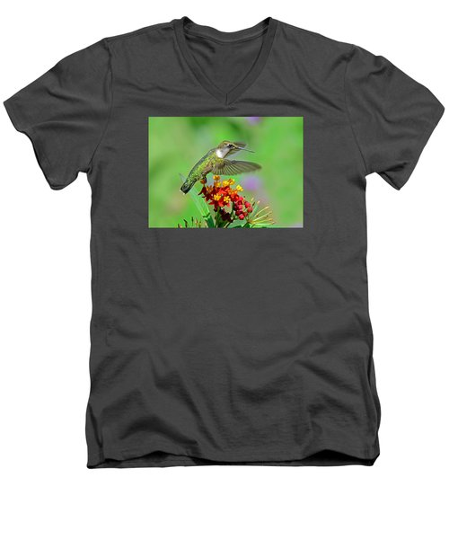 Men's V-Neck T-Shirt featuring the photograph Nature's Majesty by Rodney Campbell