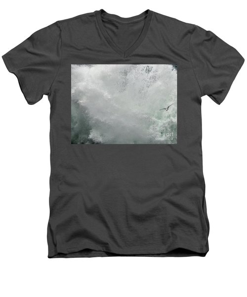 Men's V-Neck T-Shirt featuring the photograph Nature's Power by Peggy Hughes