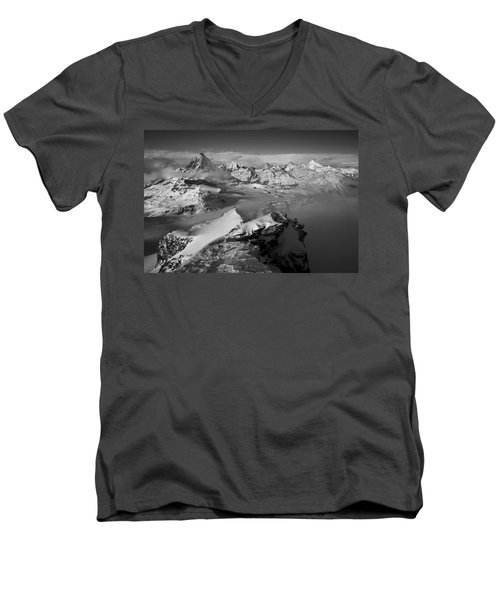 Natures Pyramids Men's V-Neck T-Shirt