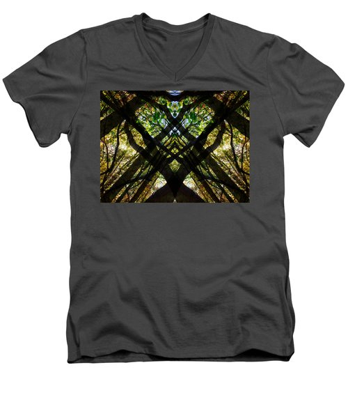Natures Stain Glass Men's V-Neck T-Shirt