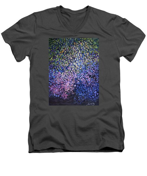 Natures Stain Glass Symphony Men's V-Neck T-Shirt