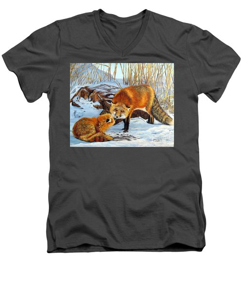 Natures Submission Men's V-Neck T-Shirt by Marilyn McNish