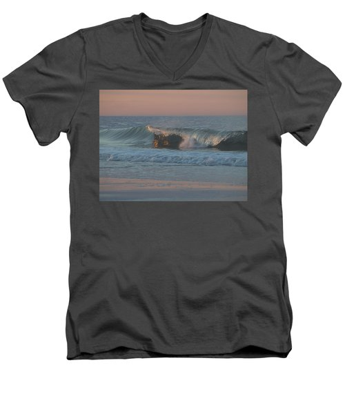 Men's V-Neck T-Shirt featuring the photograph Natures Wave by  Newwwman