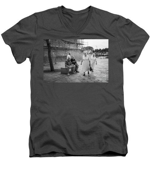 Naughty Boys Men's V-Neck T-Shirt