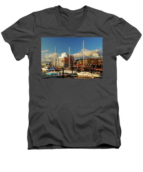 Nautical Norfolk  Men's V-Neck T-Shirt by James Kirkikis