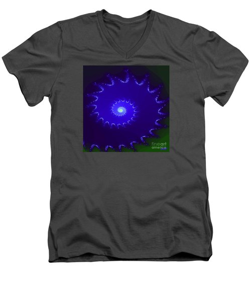 Men's V-Neck T-Shirt featuring the digital art Nautilus by Dragica  Micki Fortuna