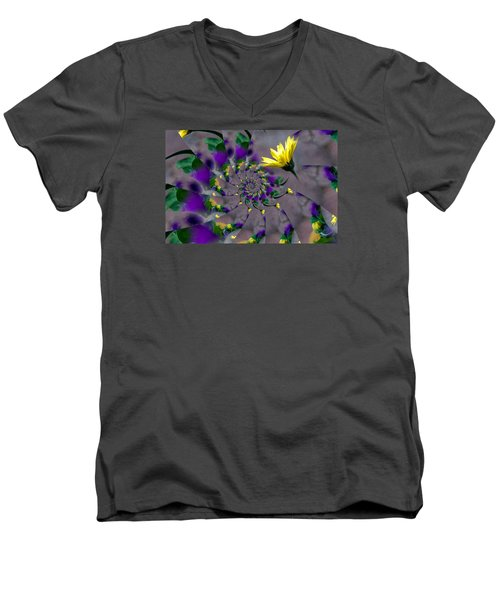 Nautilus Swirls Men's V-Neck T-Shirt