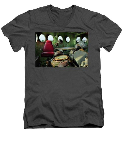 Nc Battleship Bridge Men's V-Neck T-Shirt