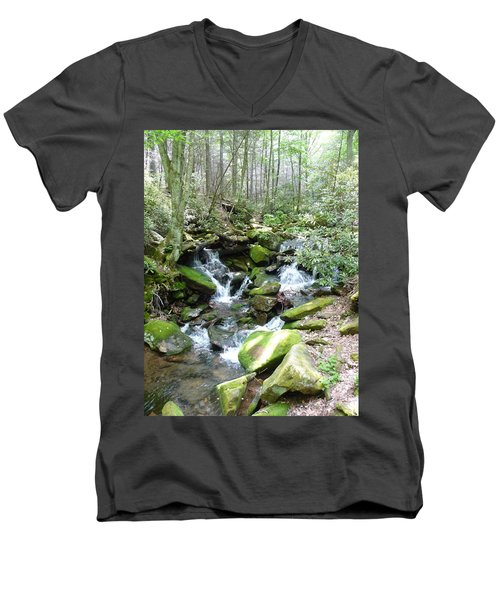 Men's V-Neck T-Shirt featuring the photograph Near The Grotto by Joel Deutsch