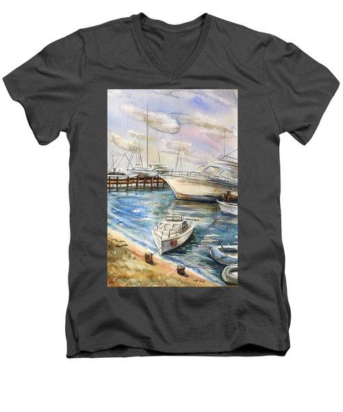 Near The Harbour 2 Men's V-Neck T-Shirt