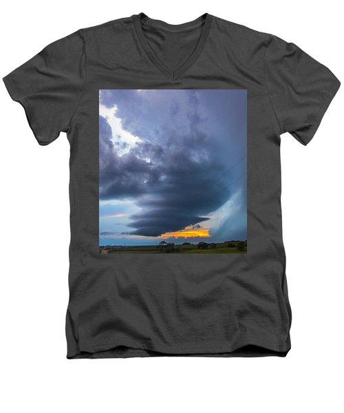 Nebraska Supercell 025 Men's V-Neck T-Shirt