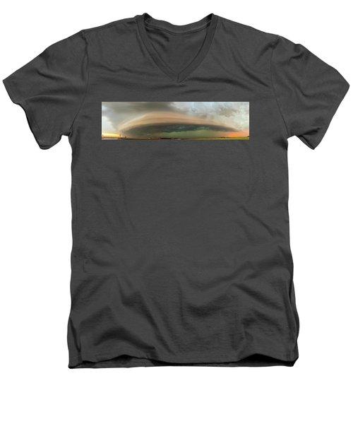 Nebraska Thunderstorm Eye Candy 020 Men's V-Neck T-Shirt