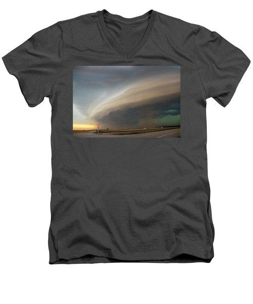 Nebraska Thunderstorm Eye Candy 026 Men's V-Neck T-Shirt