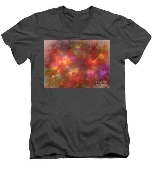 Nebula Men's V-Neck T-Shirt by Kim Sy Ok
