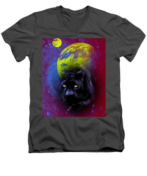 Nebula's Panther Men's V-Neck T-Shirt