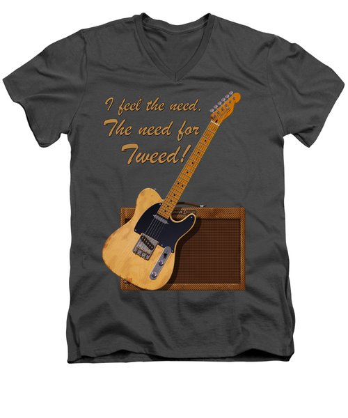 Need For Tweed Tele T Shirt Men's V-Neck T-Shirt
