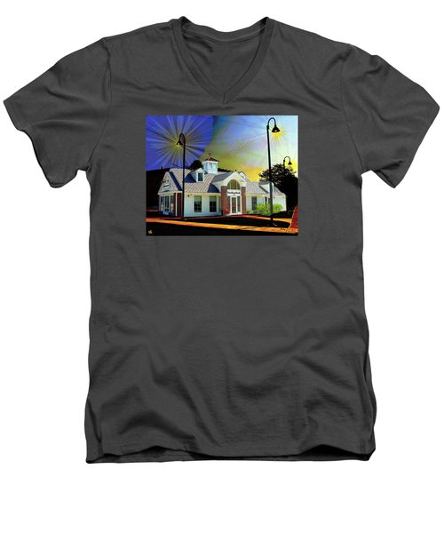 Needham Bank Ashland Ma Men's V-Neck T-Shirt