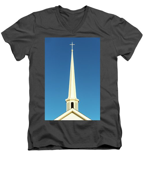 Needle-shaped Steeple Men's V-Neck T-Shirt