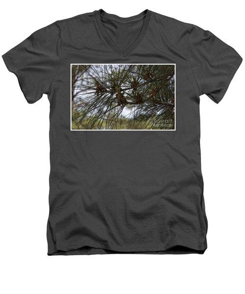Needles Attached Men's V-Neck T-Shirt