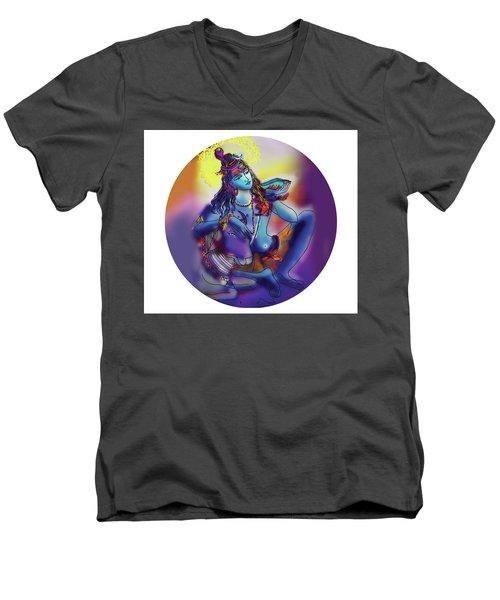 Neelakanth Shiva  Men's V-Neck T-Shirt