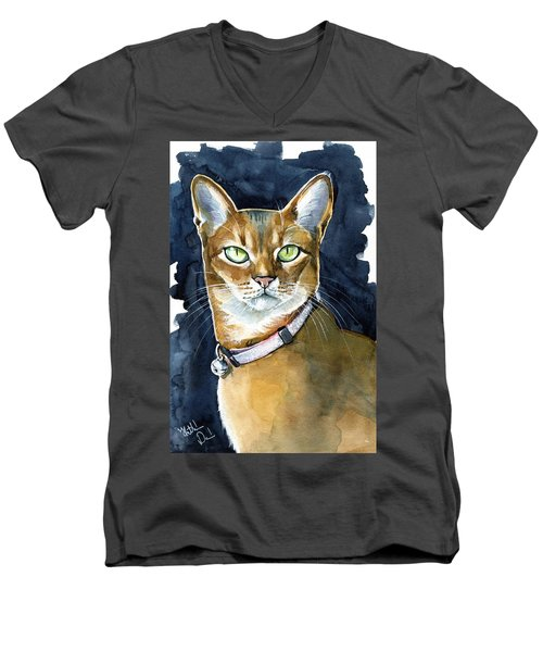 Nefertiti - Abyssinian Cat Portrait Men's V-Neck T-Shirt