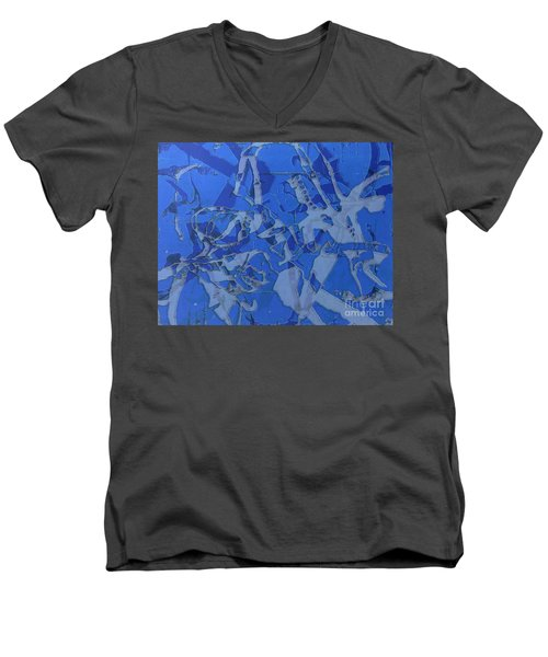 Negative Photo Silkscreen Men's V-Neck T-Shirt