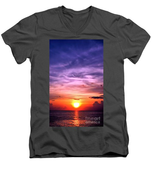 Negril Sunset Men's V-Neck T-Shirt