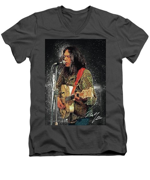 Neil Young Men's V-Neck T-Shirt