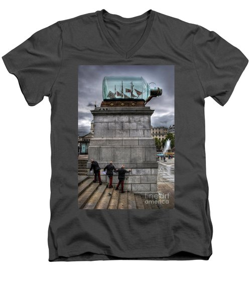 Nelson's Ship In A Bottle Men's V-Neck T-Shirt