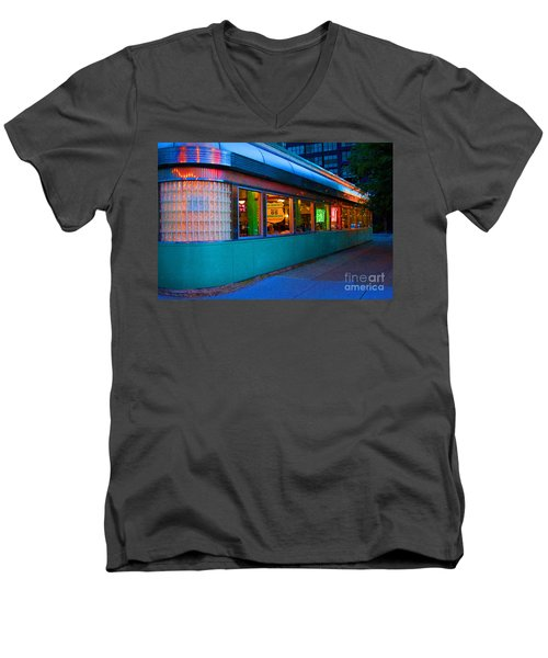 Neon Diner Men's V-Neck T-Shirt