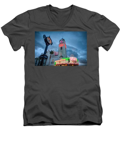 Neon Sign Rip Merle Haggard Men's V-Neck T-Shirt