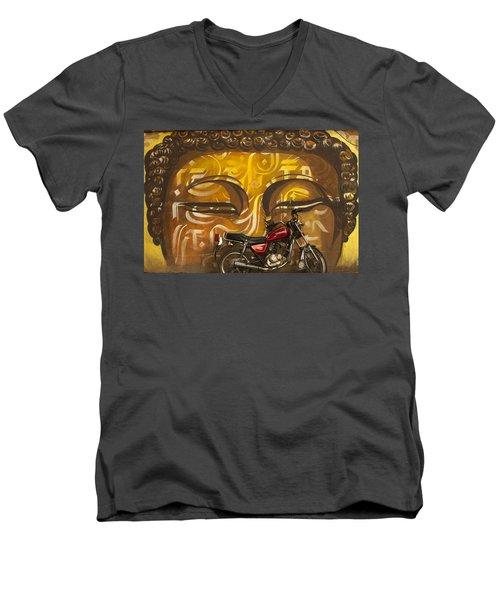 Nepal Buddha Men's V-Neck T-Shirt