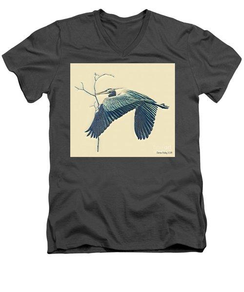 Nesting Heron Men's V-Neck T-Shirt