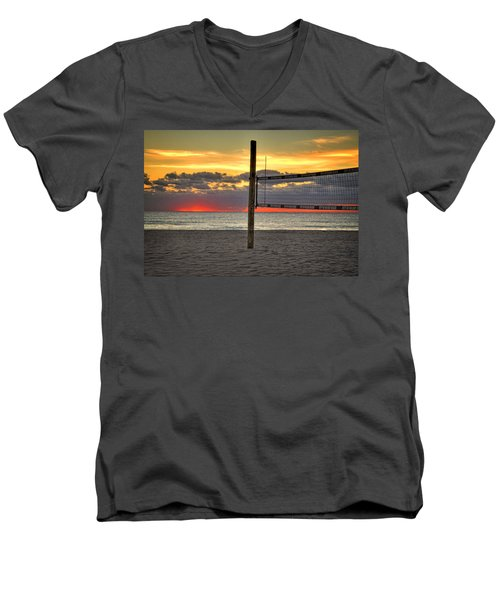 Netting The Sunrise Men's V-Neck T-Shirt