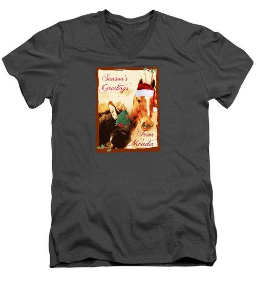 Nevada Greetings Men's V-Neck T-Shirt by Bobbee Rickard