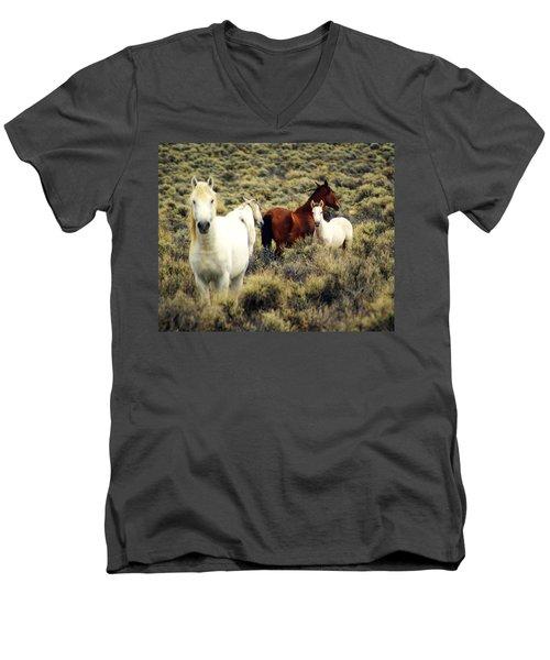 Nevada Wild Horses Men's V-Neck T-Shirt